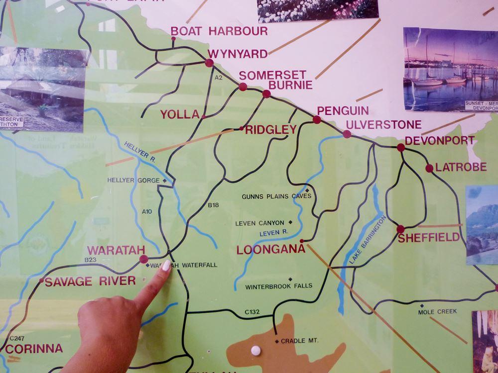 Karte zur Orientierung