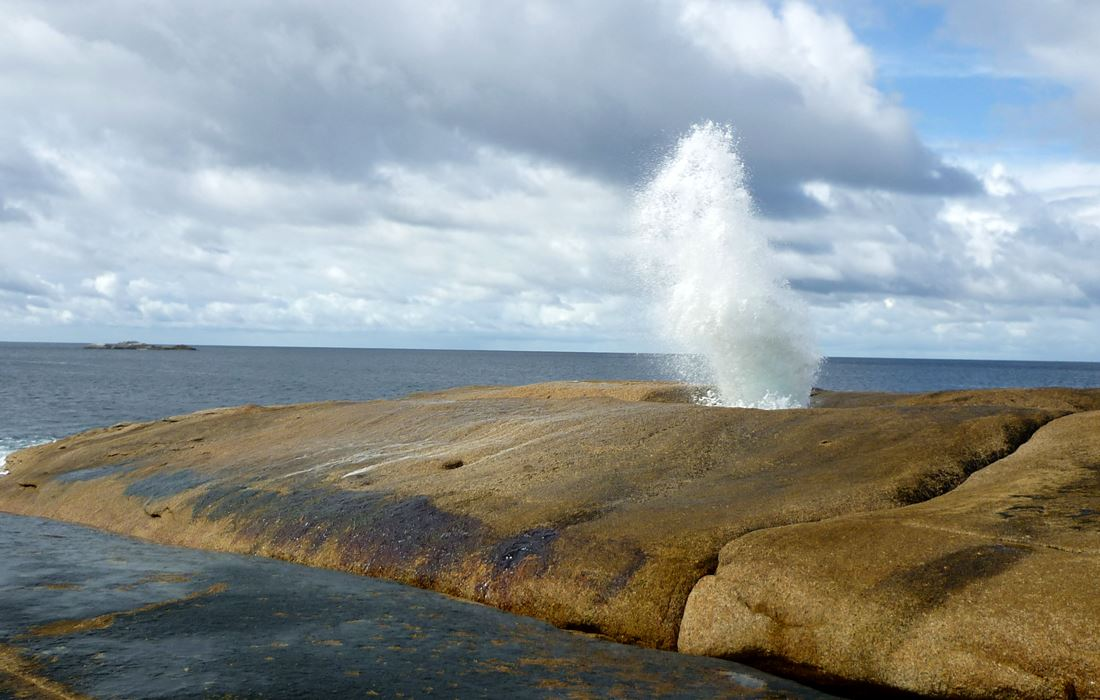 Blowhole in Bicheno Tasmanien