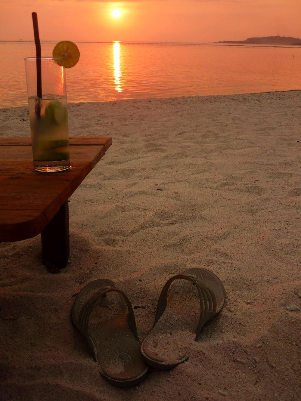 Sonnenuntrgang am Strand