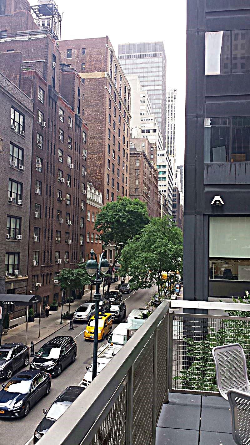 Blick vom Rooftop für die Mittagspause in New York City