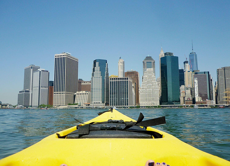 Kayaken auf dem East River