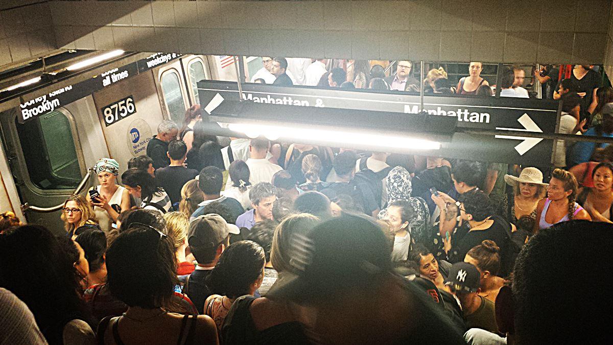 Gedränge in der Subway New Yorks