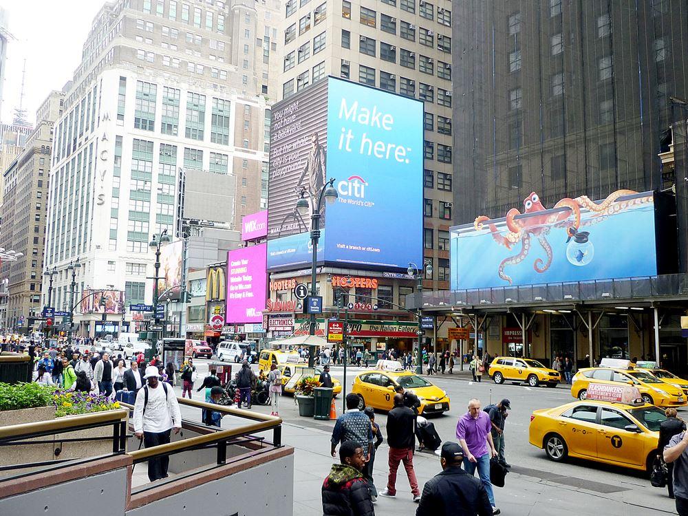 auf den Straßen Manhattans