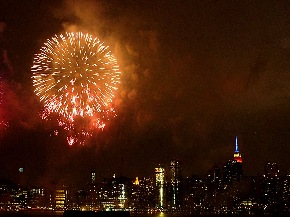 Feuerwerk in New York City Juli 4 2016