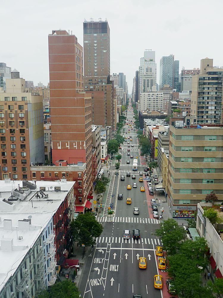 Blick von der Seilbahn Manhattan nach Roosevelt Island