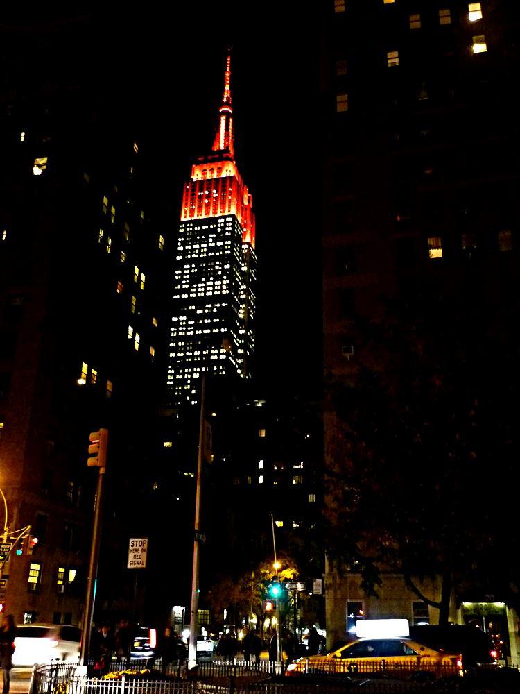 Wahlergebnis-Präsident-USA-Empire State Building