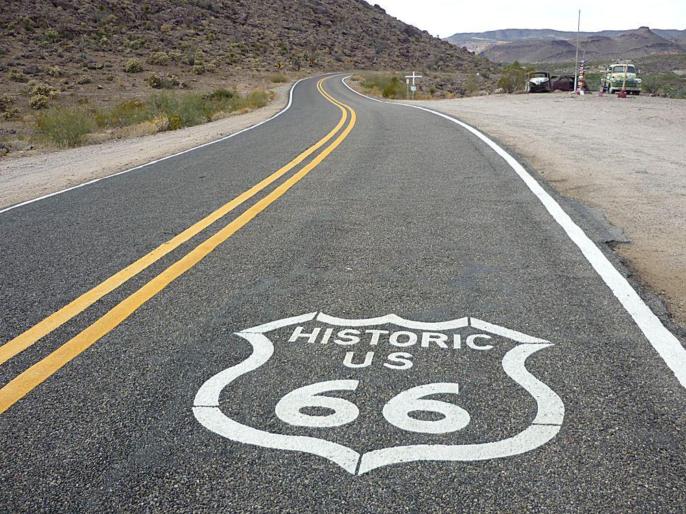 route-66-strassenmarkierung