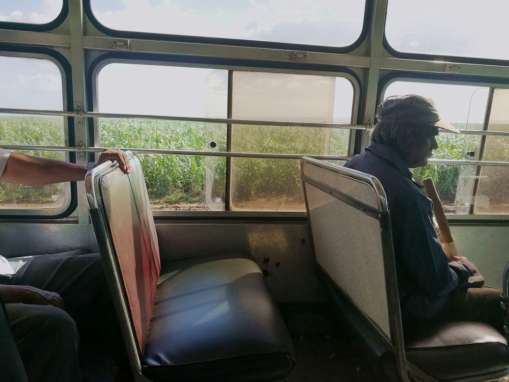 Busfahren in Mauritus