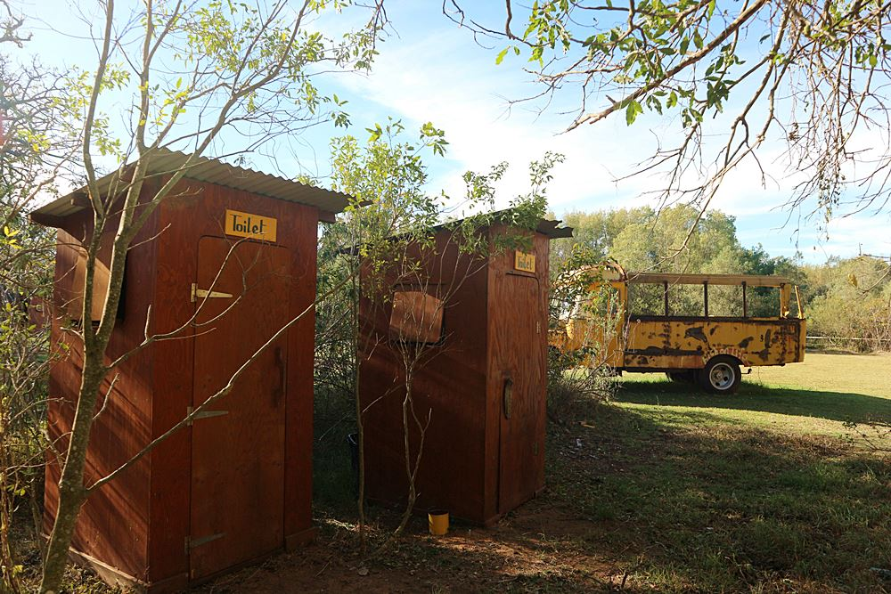 Toiletten irgendwo in Suedafrika