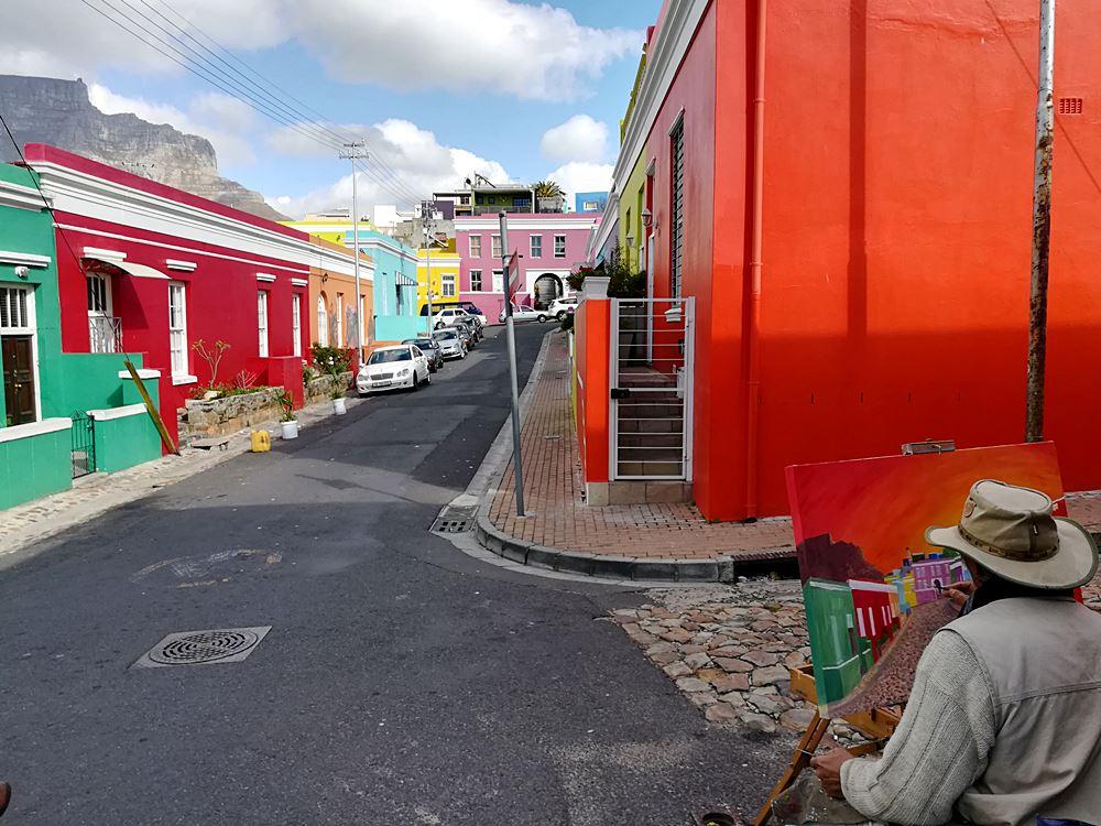 Bo Kaap buntes Viertel in Kapstadt