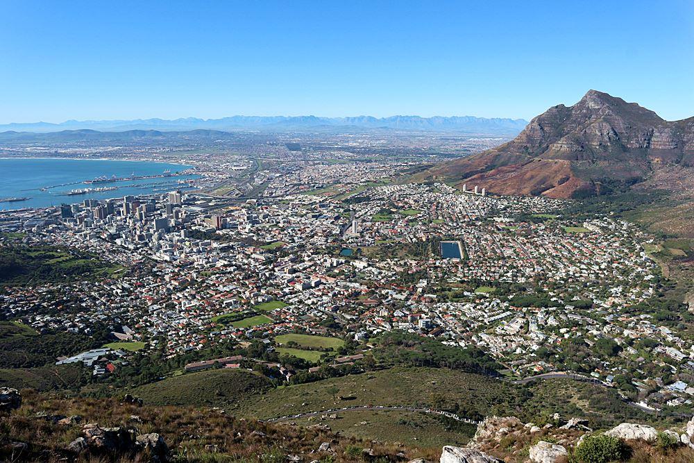 Blick ueber Kapstadt
