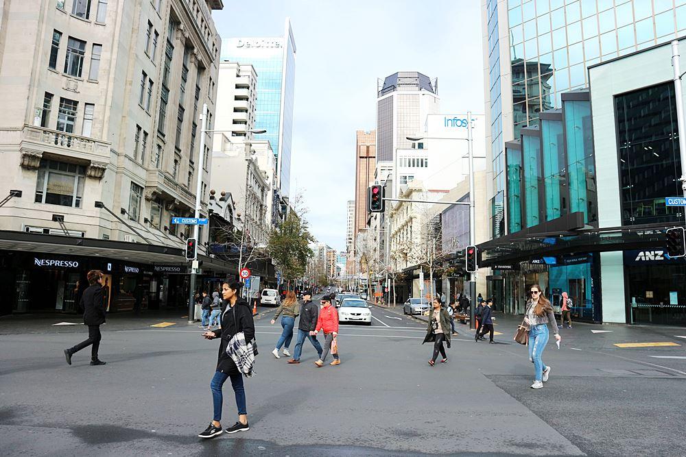 Auf den Straßen Aucklands