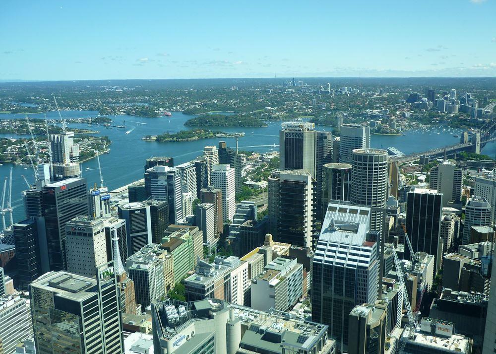 Aussicht vom Sydney Tower Eye