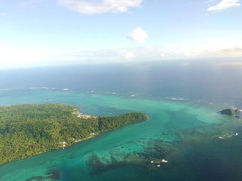 Samoa vom Flugzeug