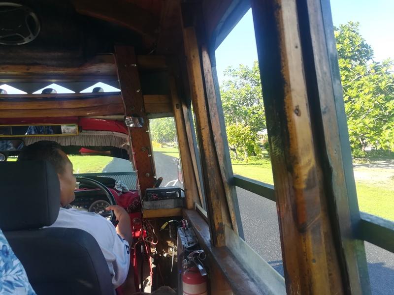 Bus auf Samoa Suedsee