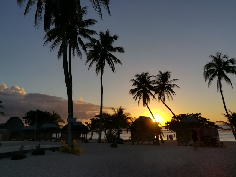 Sonnenuntergang Suedsee