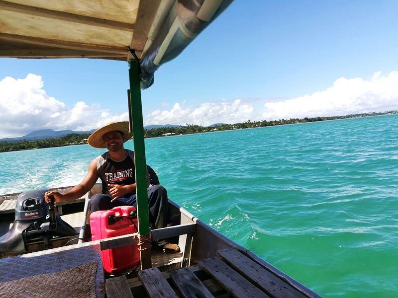 Boot nach Manono Island