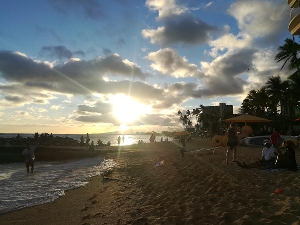 Sonnenuntergang Waikiki