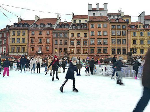Schlittschuh in Warschau