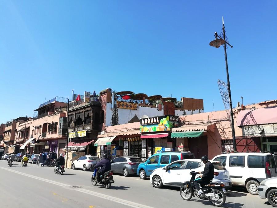 Stadttreiben Marokko